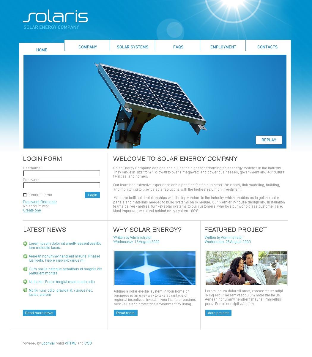 solar energy joomla template 26425. Black Bedroom Furniture Sets. Home Design Ideas