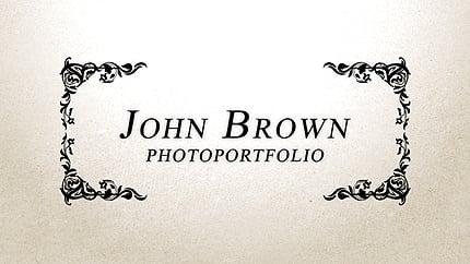 After Effects Intro #26666 para Sitio de Portafolios de fotógrafos