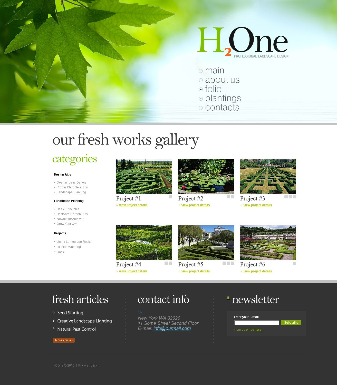 Landscape design website template 26689 for Landscape design site
