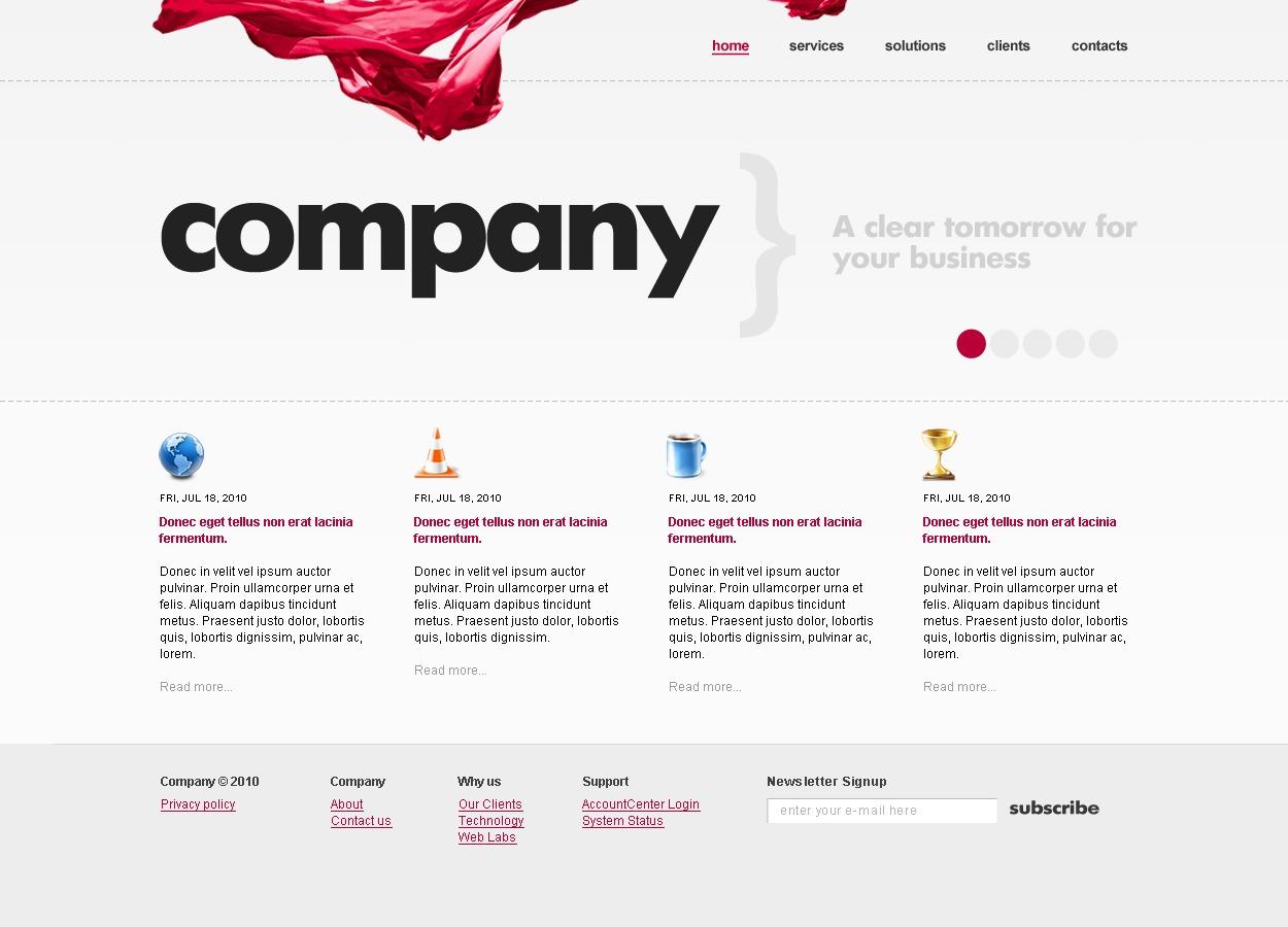 Szablon Strona Www #26753 na temat: biznes i usługi - zrzut ekranu
