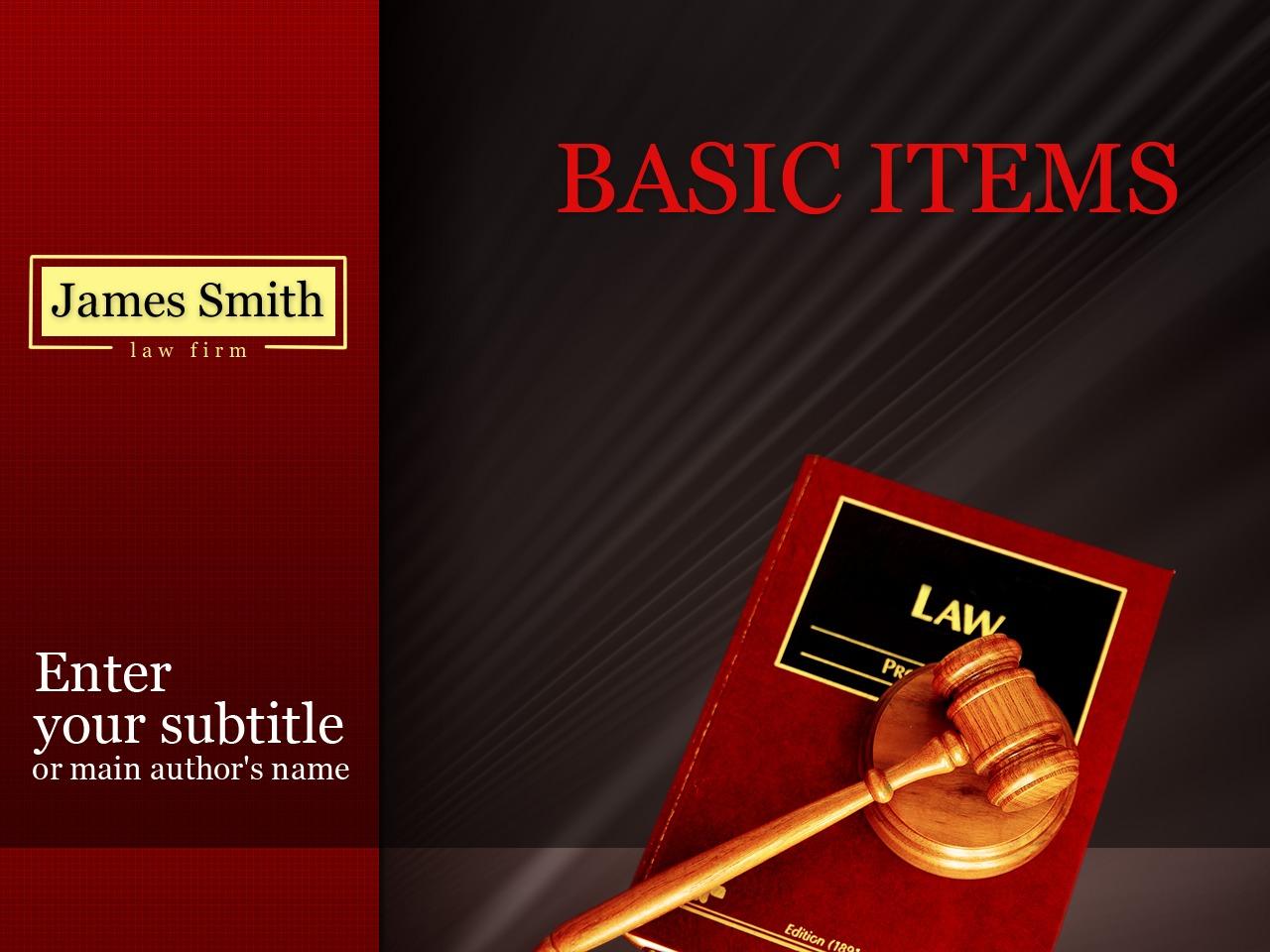 Template PowerPoint para Sites de Escritório de Advocacia №26728