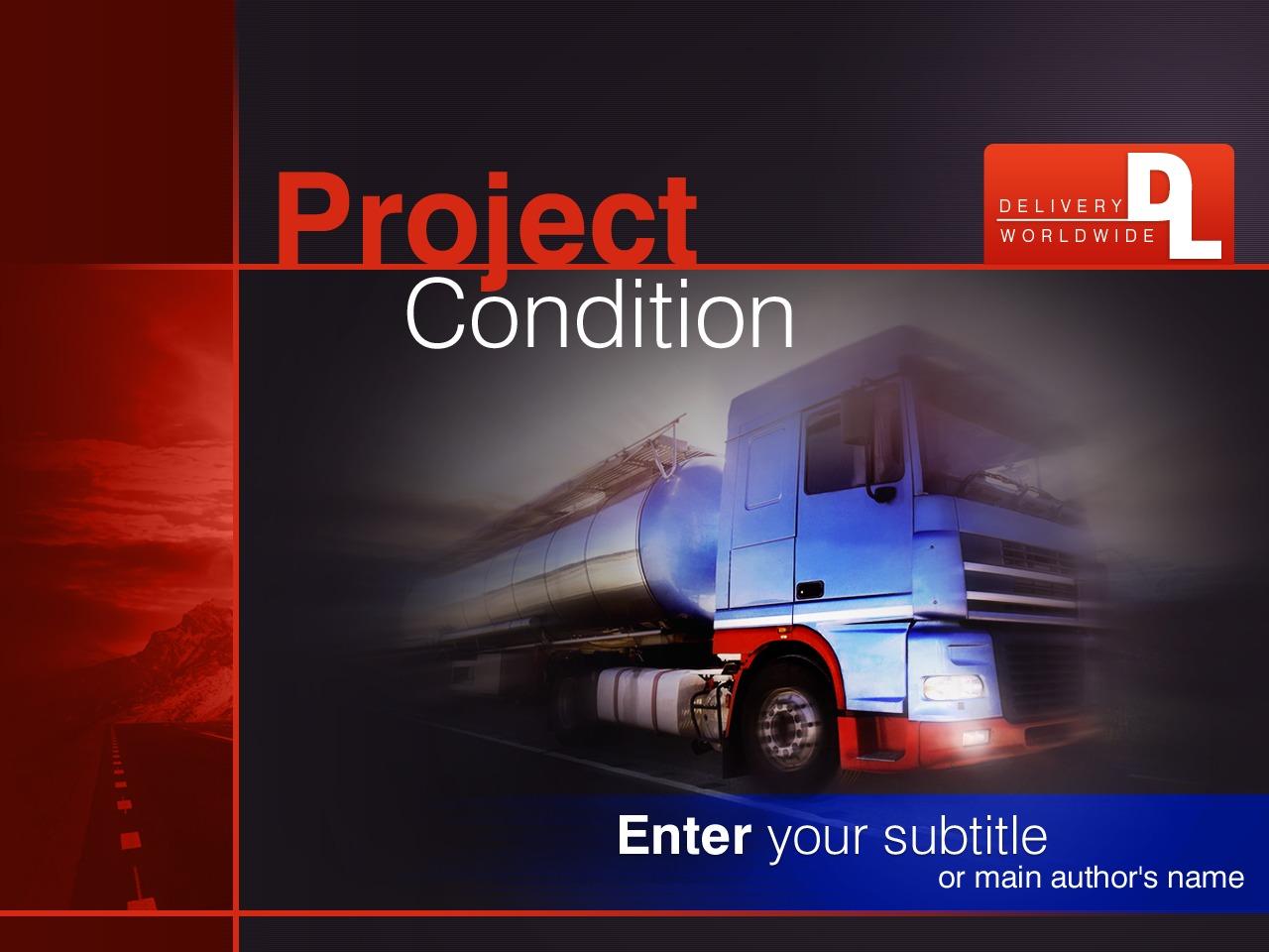Template PowerPoint para Sites de Transporte №26726