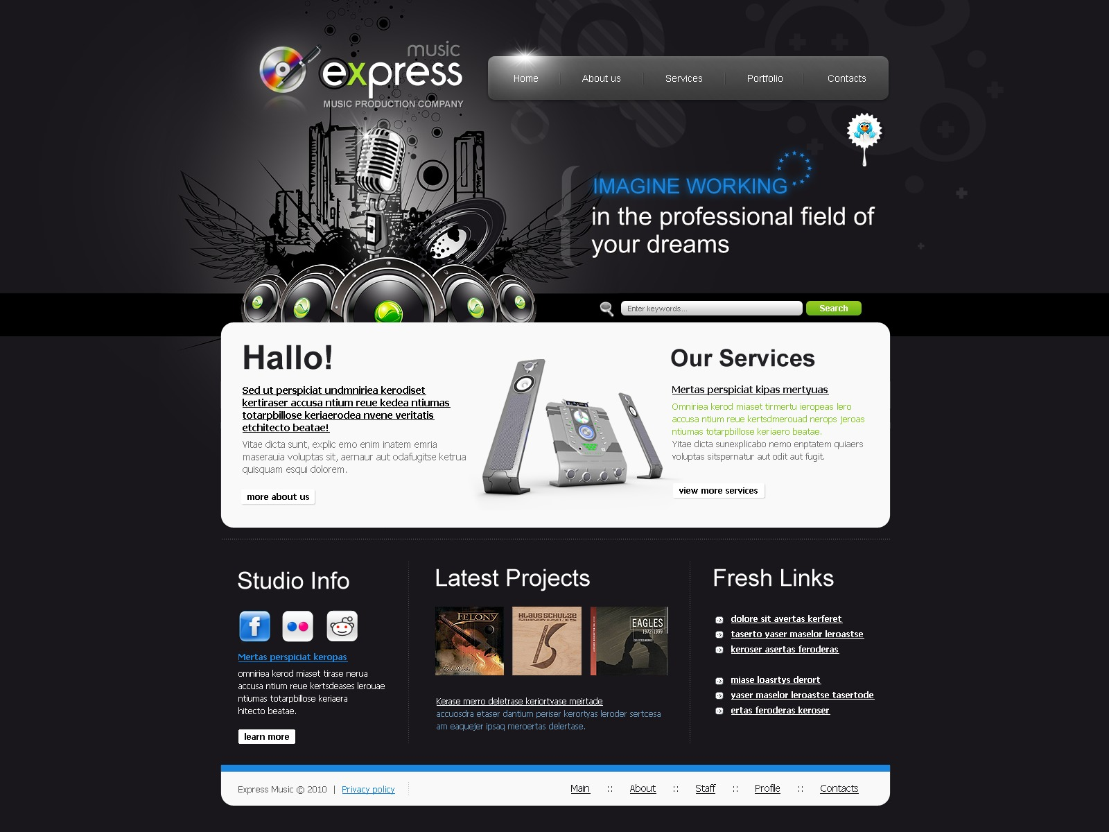 Music Portal Website Template #26859