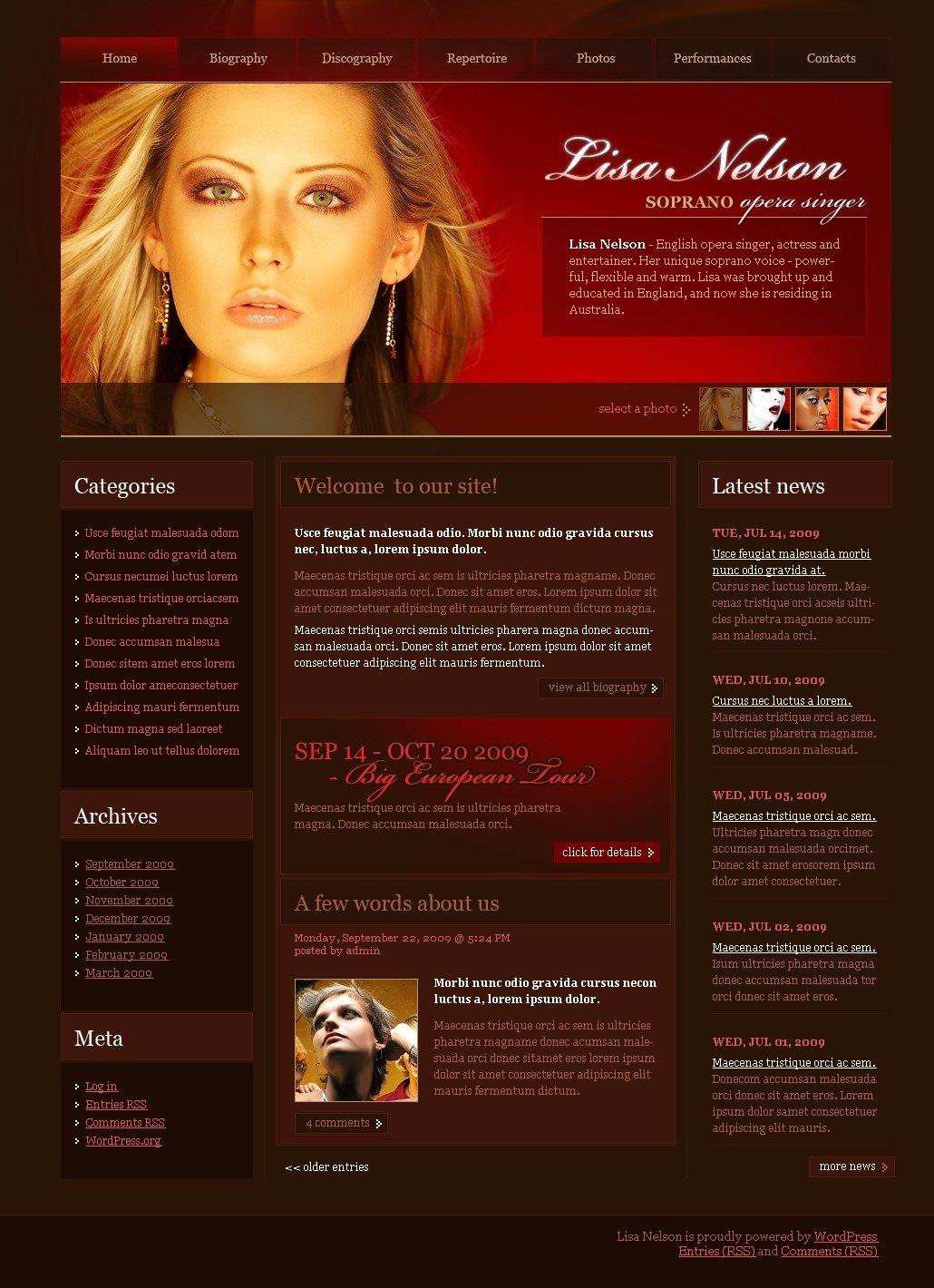 Singer WordPress Theme - screenshot