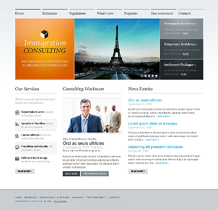 Immigration Consulting Website Template #26921 by WT - Website ...