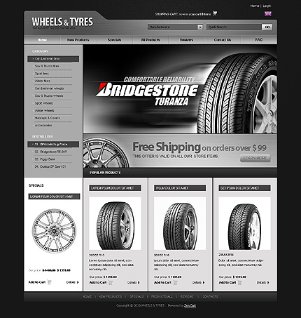 ZenCart Template 26997 Main Page Screenshot