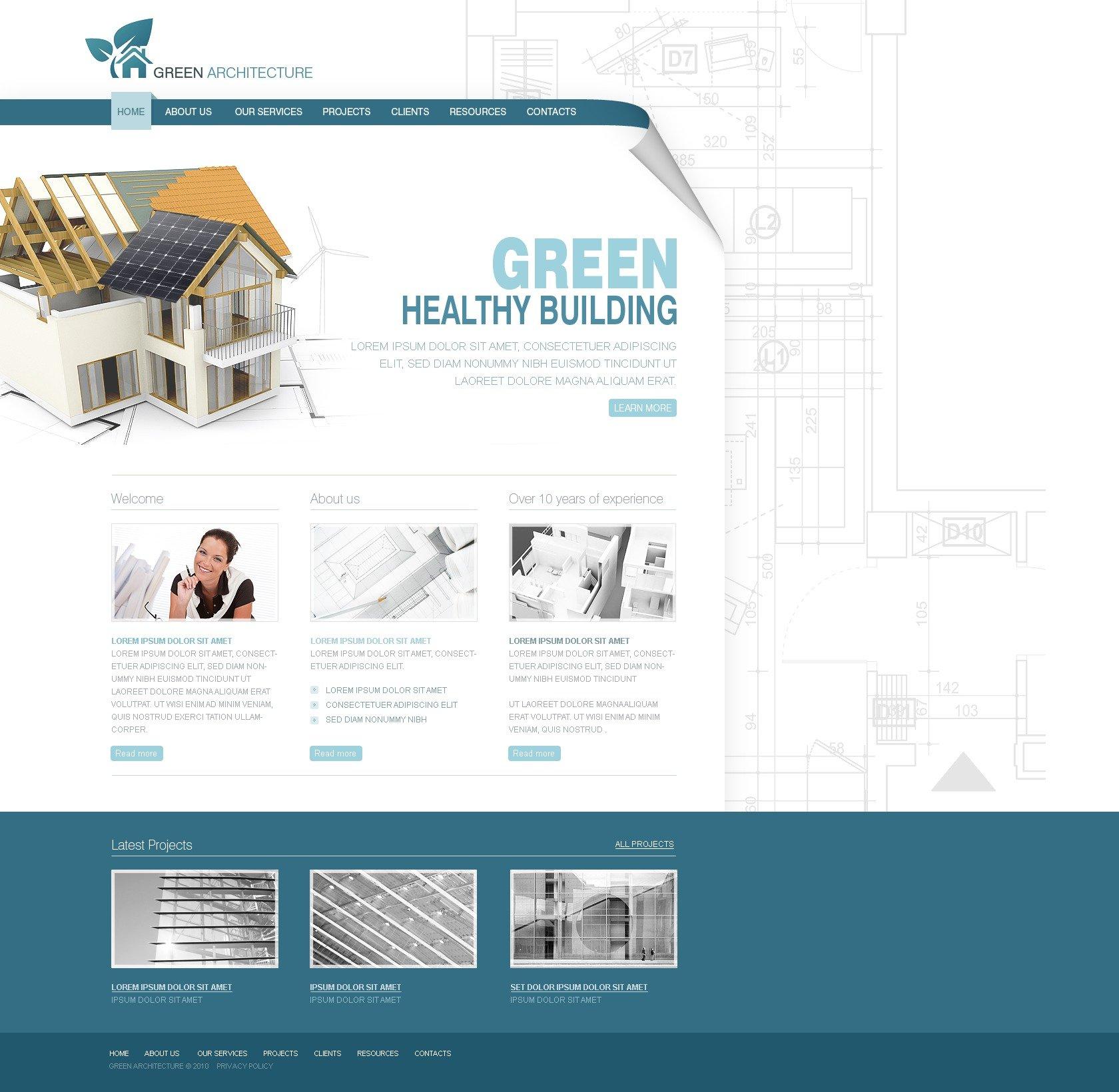 Plantilla web 26975 para sitio de arquitectura for Arquitectura sitio web