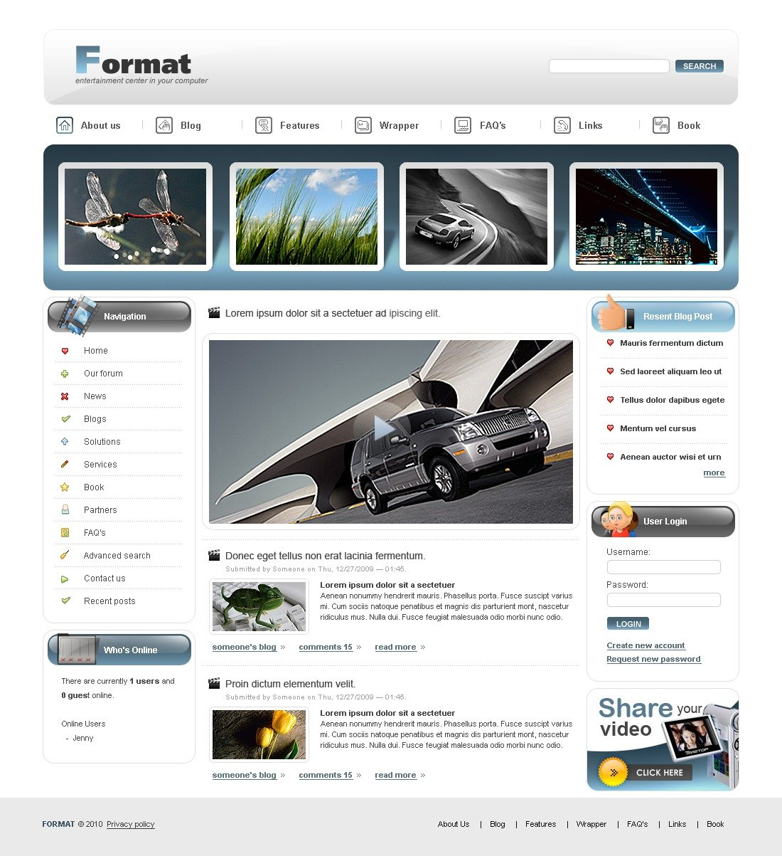 drupal video templates