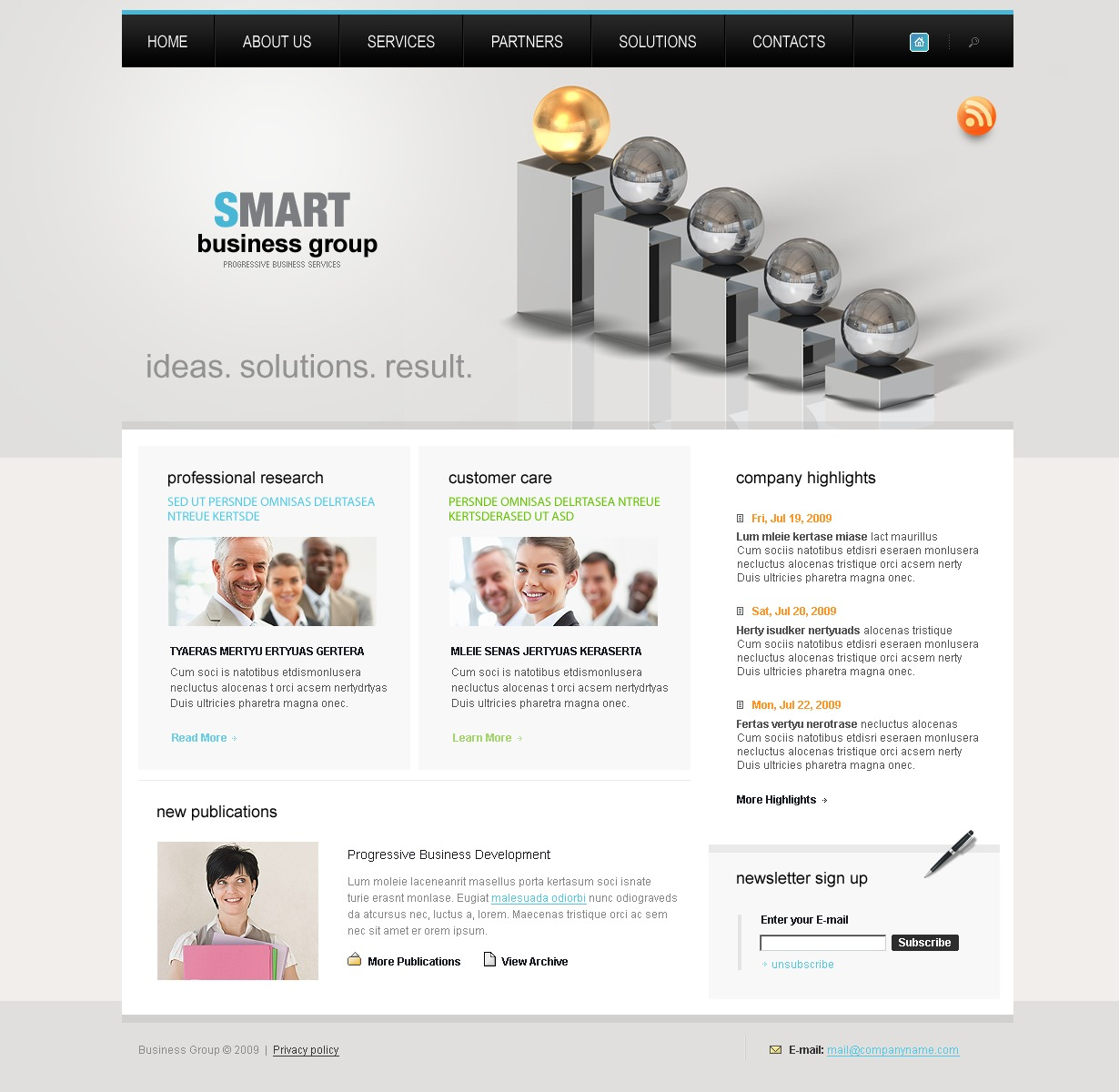 Business Website Template 27044