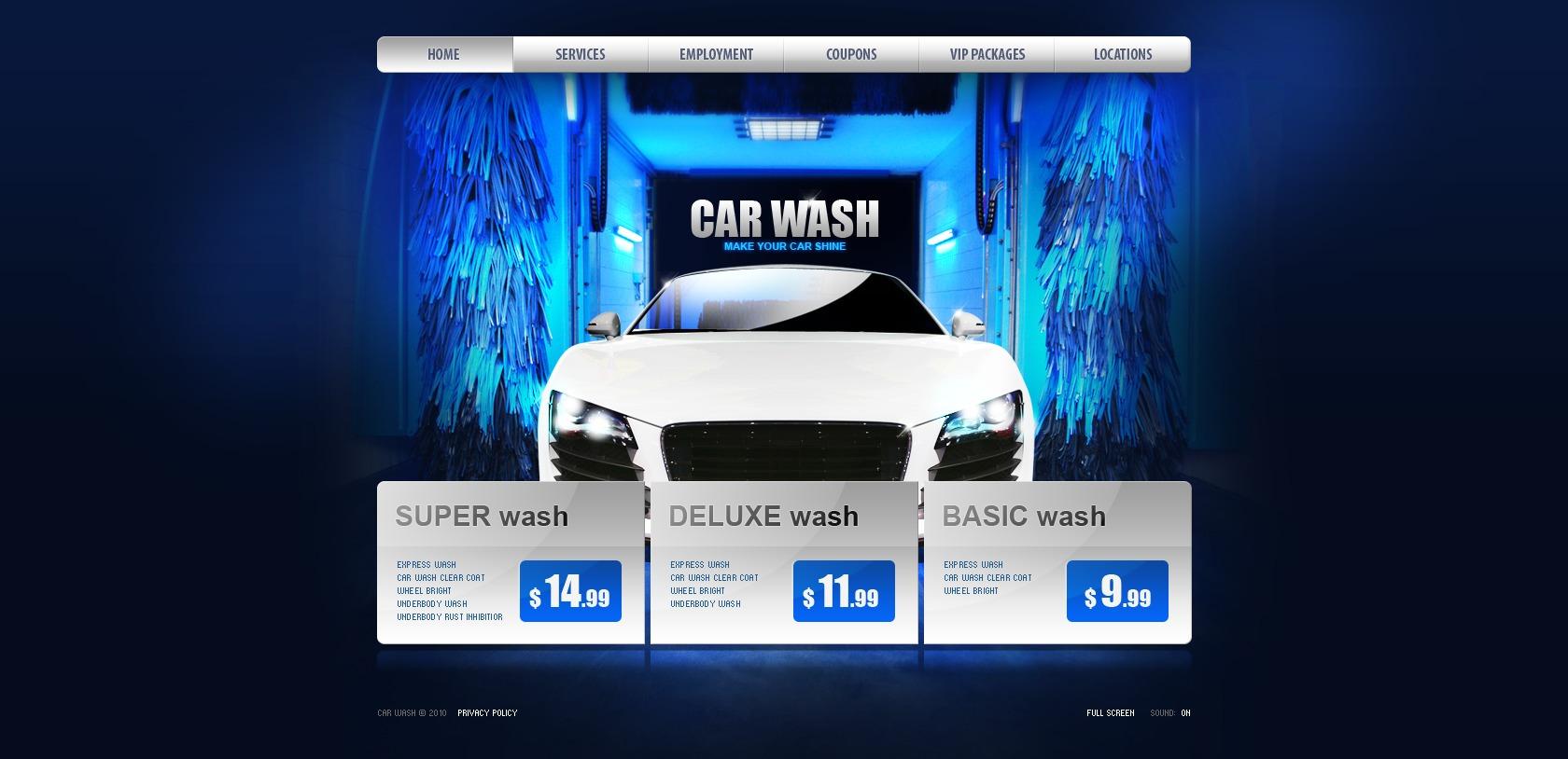 Plantilla Flash #27195 para Sitio de Lavado de autos