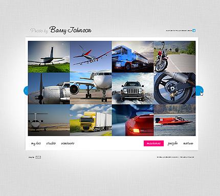 ADOBE Photoshop Template 27204 Home Page Screenshot
