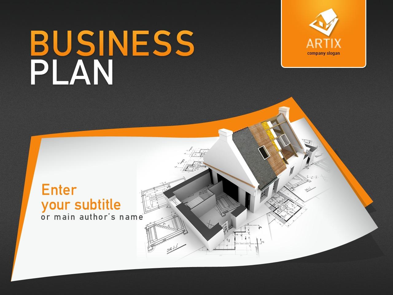 Szablon PowerPoint #27259 na temat: architektura