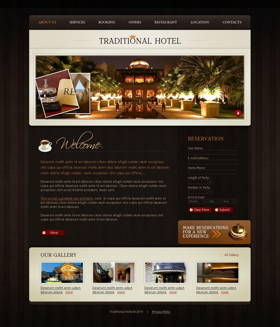 Mod le web 27381 pour site d 39 h tel for Site web pour hotel
