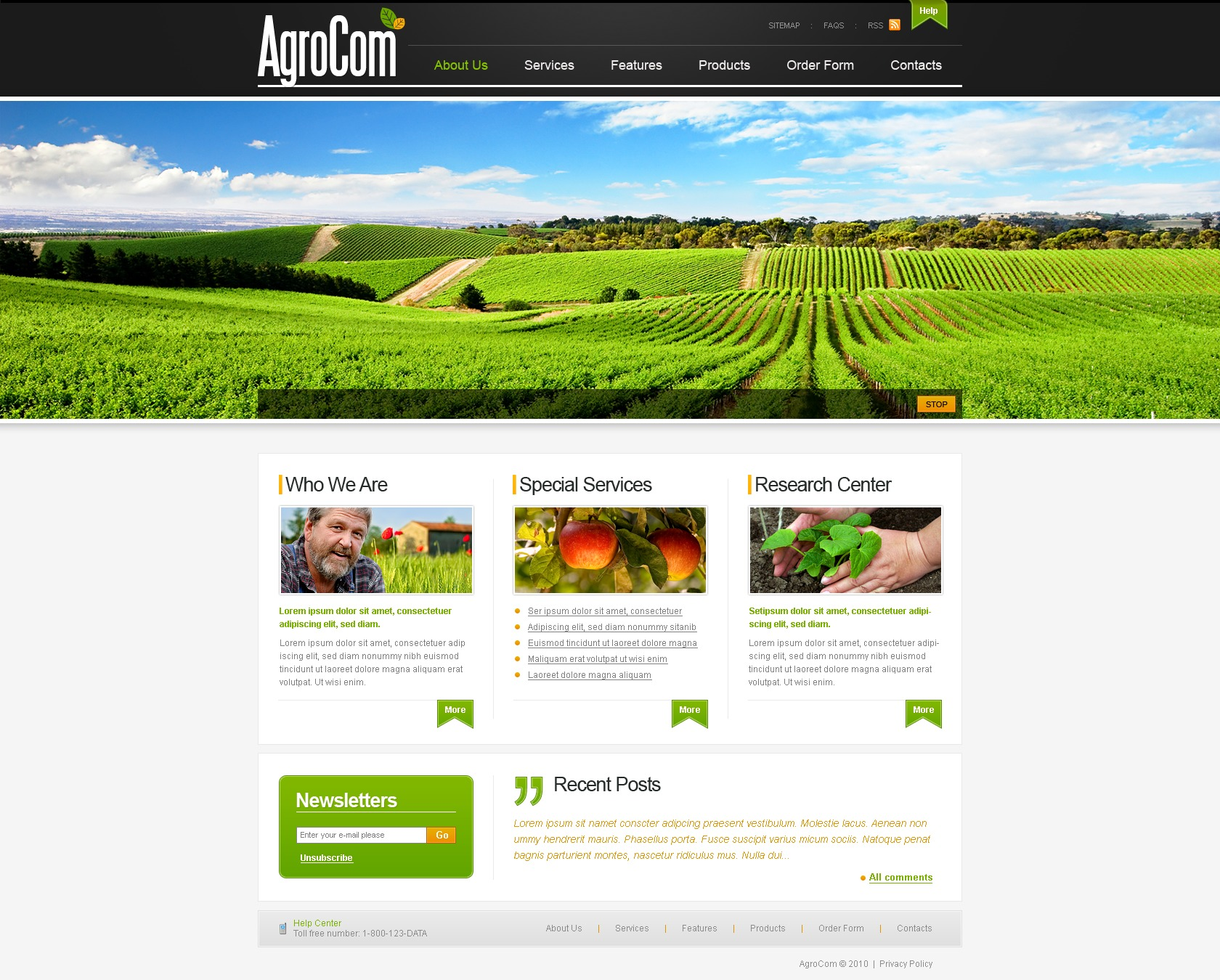The Best Organic Products Joomla Template 75
