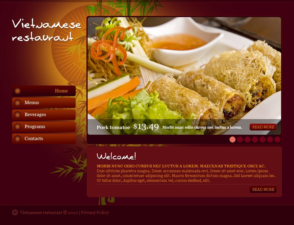 Vietnamese restaurant flash template 27306 vietnamese restaurant flash template toneelgroepblik Image collections