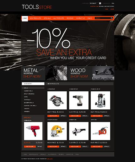 ZenCart Template 27454 Main Page Screenshot