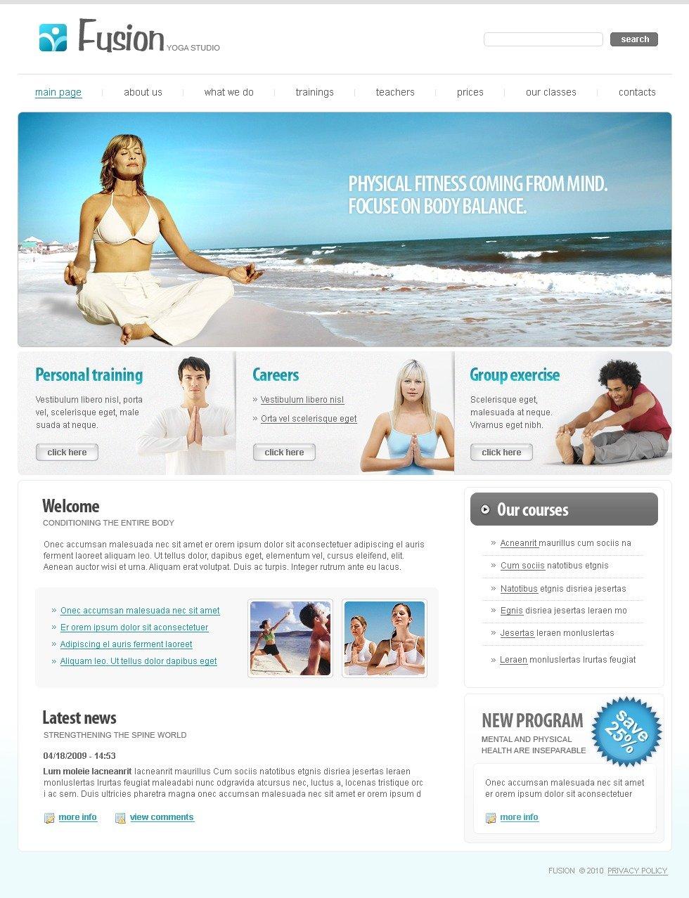 Yoga Website Template #27434