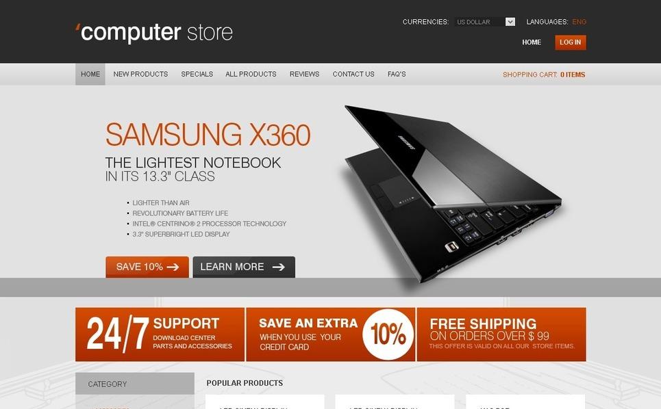 Szablon ZenCart #27530 na temat: sklep komputerowy New Screenshots BIG