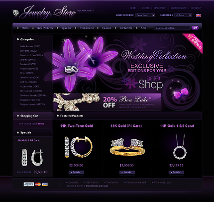 Creare site magazin bijuterii