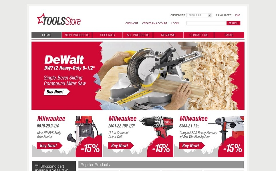 Szablon ZenCart #27552 na temat: narzędzia i urządzenia New Screenshots BIG