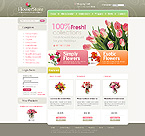 VirtueMart: Flowers Online Store/Shop Most Popular Wide Templates VirtueMart Templates