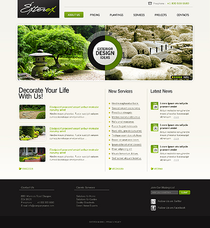 Realizare site companie amenajari gradini