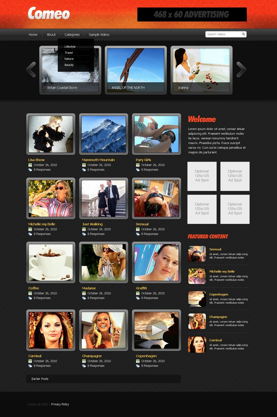 video gallery website template  27659 by wt