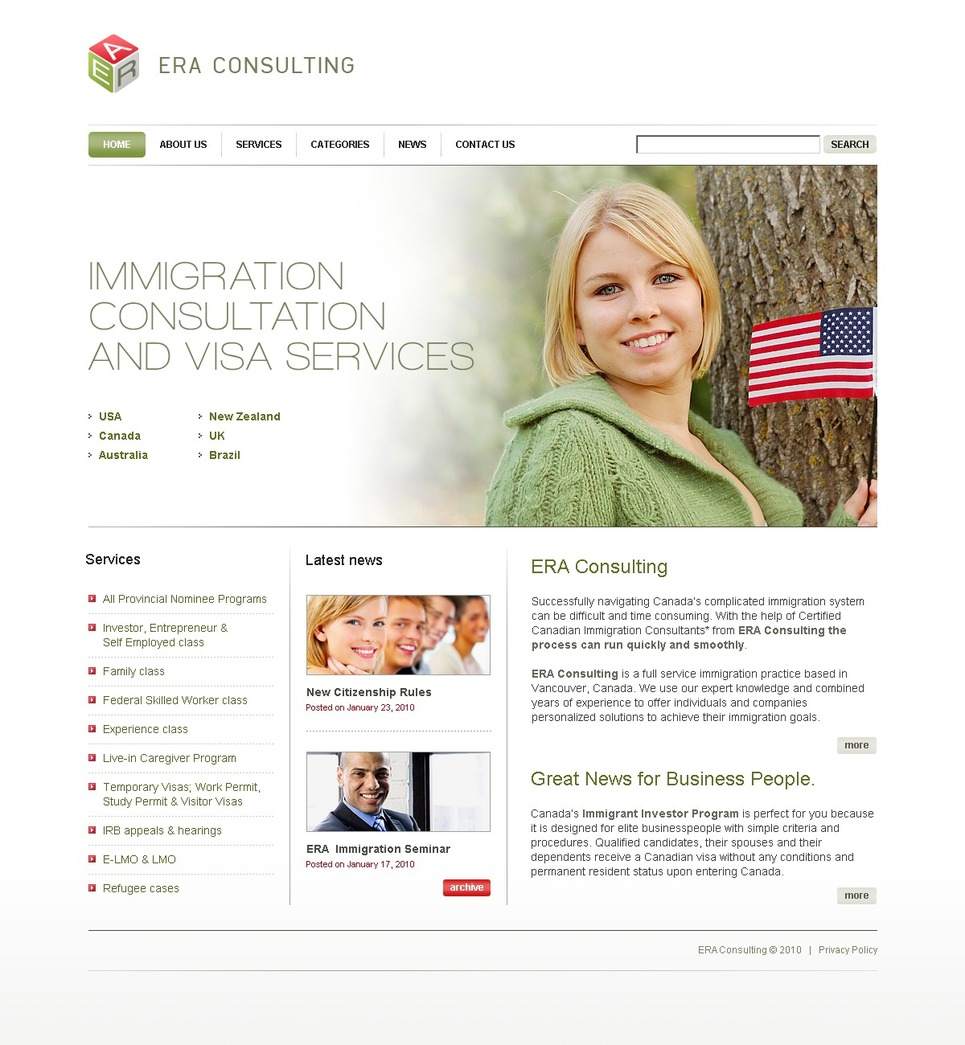 Immigration Consulting Website Template #27660 by WT - Website ...