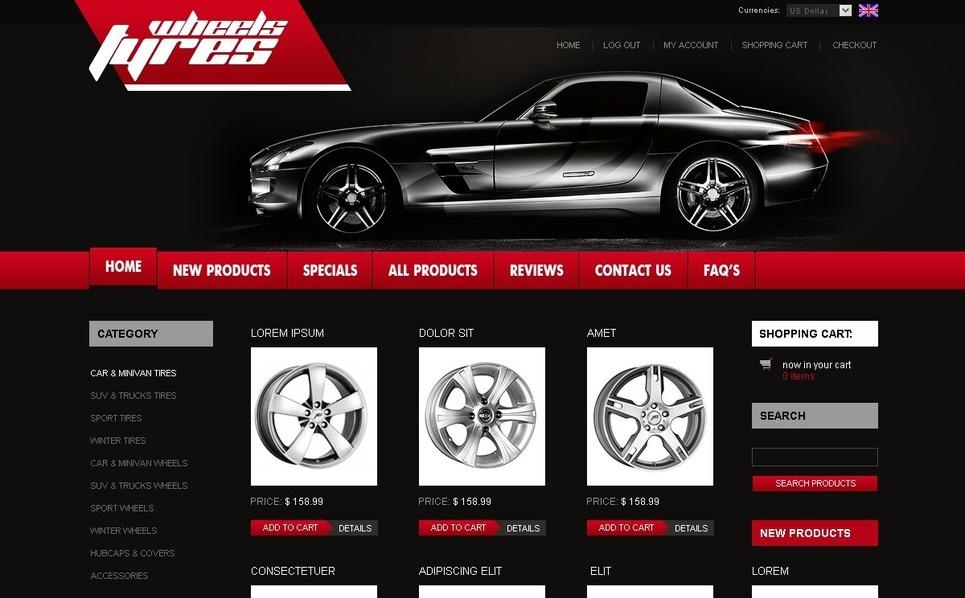 ZenCart Vorlage für Räder & Reifen  New Screenshots BIG