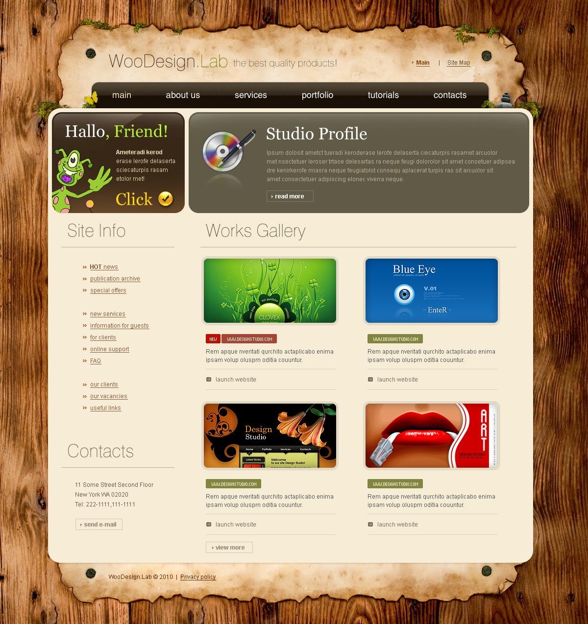 Template siti web 27686 per un sito di design studio for Siti di design
