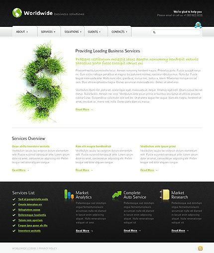 ADOBE Photoshop Template 27743 Home Page Screenshot