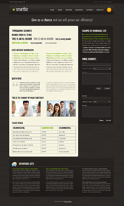 ADOBE Photoshop Template 27745 Home Page Screenshot