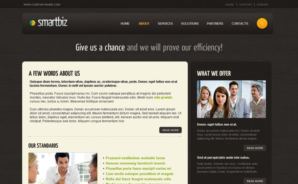 Plantilla PSD #27745 para Sitio de Negocio y Servicios New Screenshots BIG