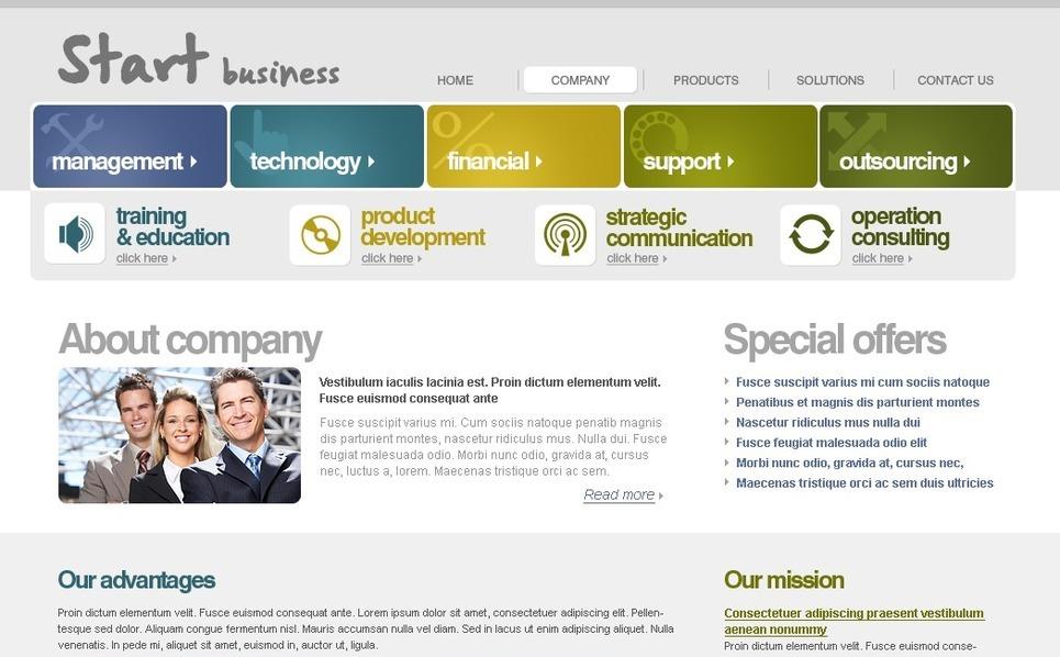 Modello PSD  #27746 per Un Sito di Business e Servizi New Screenshots BIG