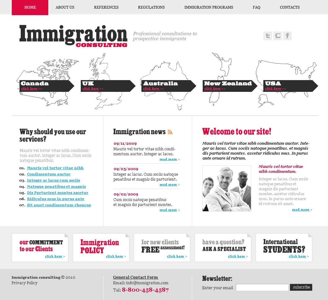 Immigration Consulting Website Template #27780 by WT - Website ...