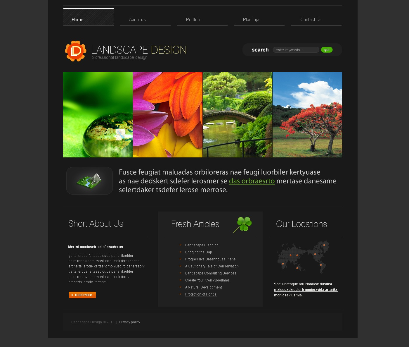 Landscape design website template 27729 for Landscape design site