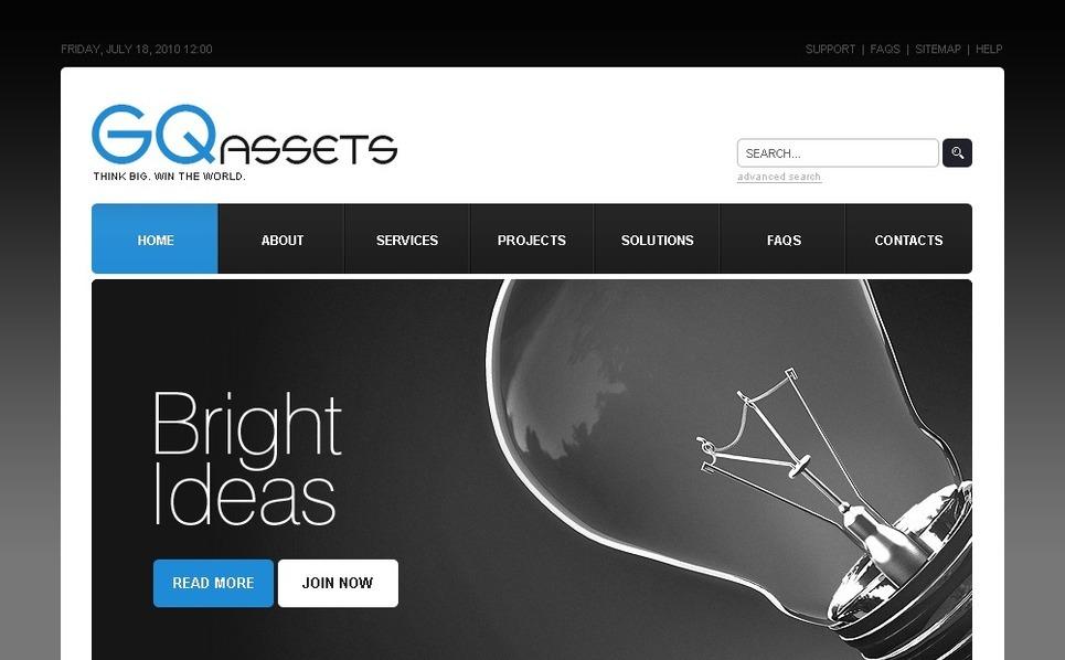 Modello PSD  #27818 per Un Sito di Business e Servizi New Screenshots BIG
