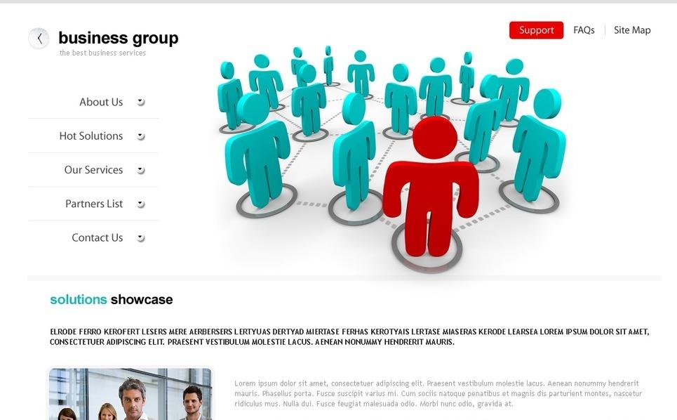 Template Photoshop  para Sites de Business & Services №27819 New Screenshots BIG