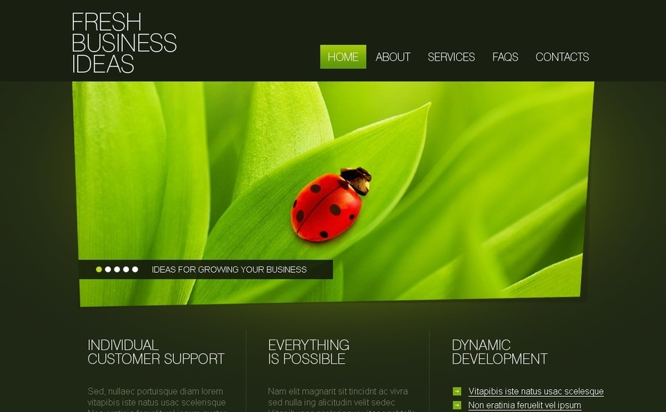 Template Photoshop  para Sites de Business & Services №27821 New Screenshots BIG