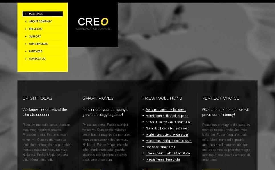 PSD шаблон №27824 на тему бизнес и услуги New Screenshots BIG