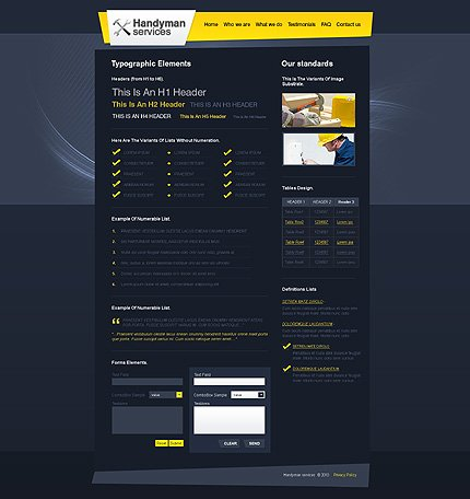 ADOBE Photoshop Template 27828 Home Page Screenshot