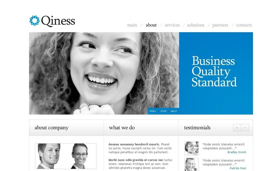 Responsive PSD Template over Business & Diensten New Screenshots BIG