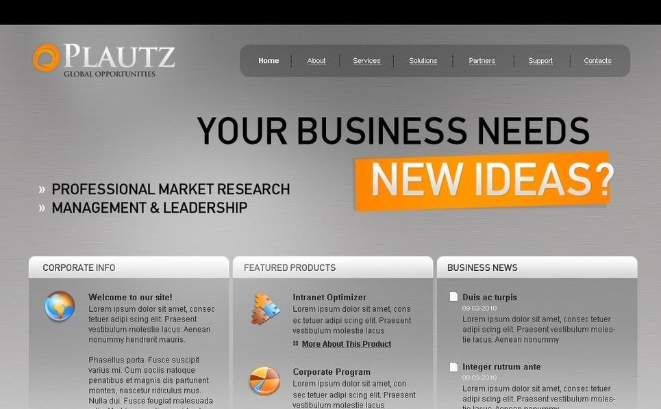 Szablon PSD #27830 na temat: biznes i usługi New Screenshots BIG