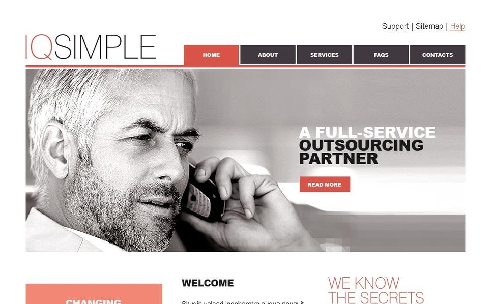 PSD шаблон №27833 на тему Бизнес и услуги New Screenshots BIG