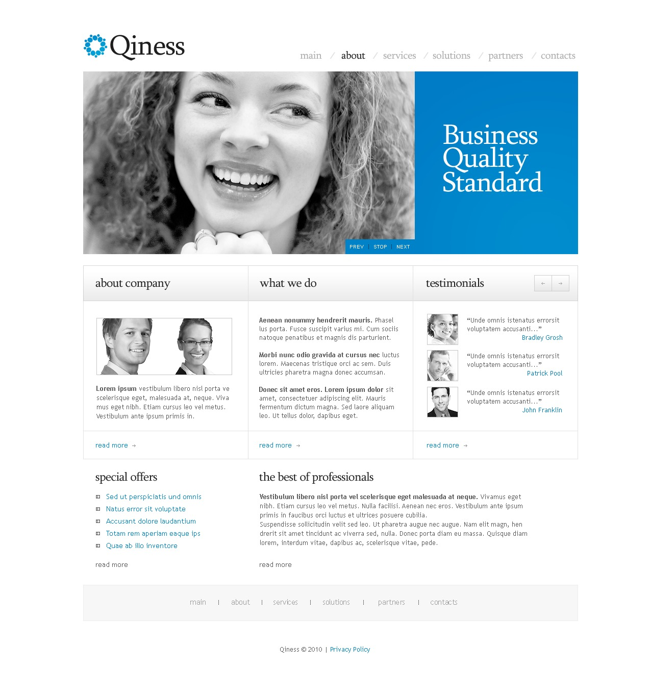 Business & Services Responsive PSD Template