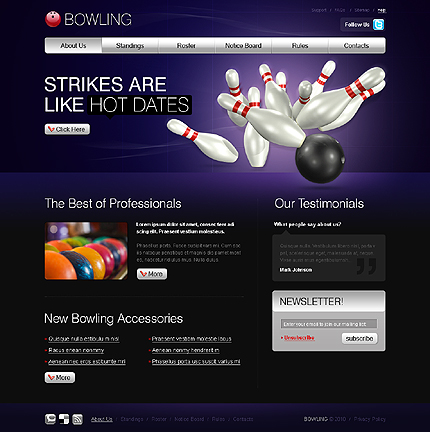 Realizare Site Online club bowling