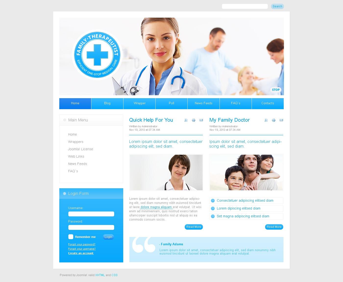 Plantilla Joomla #27929 para Sitio de Medicina