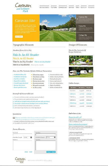 ADOBE Photoshop Template 28064 Home Page Screenshot