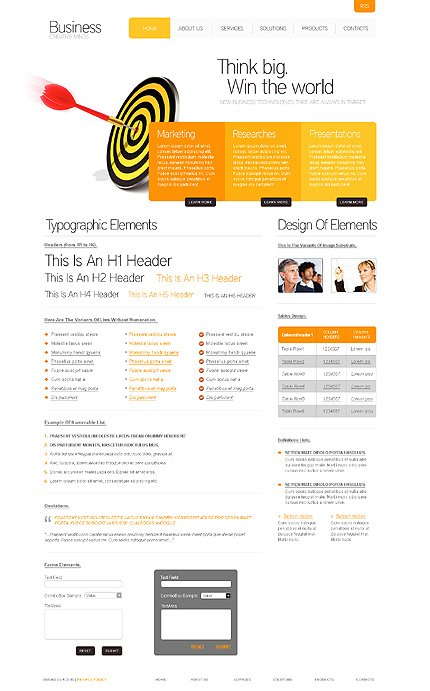 ADOBE Photoshop Template 28066 Home Page Screenshot