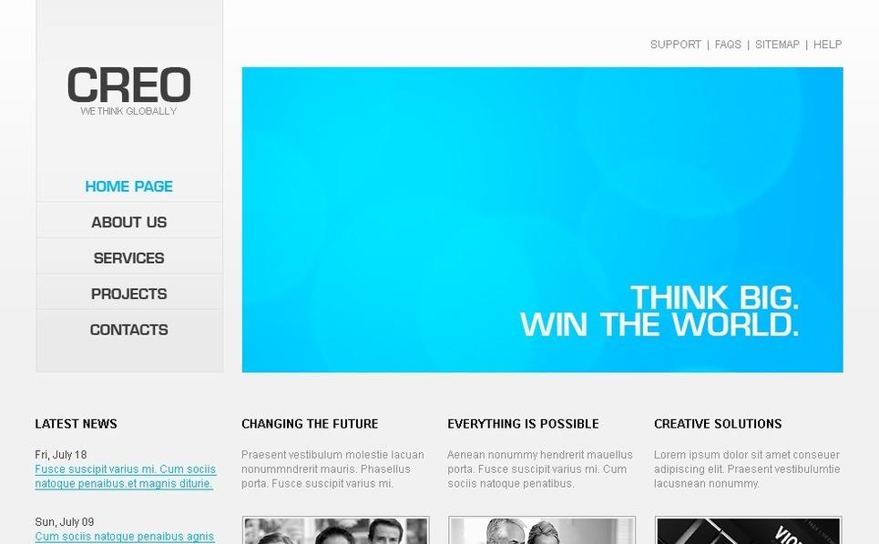 Plantilla PSD #28067 para Sitio de Negocio y Servicios New Screenshots BIG